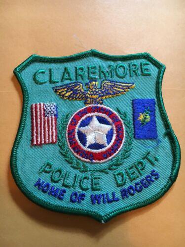 CLAREMORE OKLAHOMA POLICE DEPT PATCH