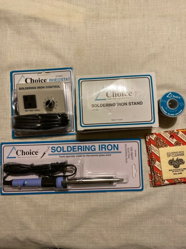 NEW Choice Soldering Iron Starter Kit Temperature Controller stand solder