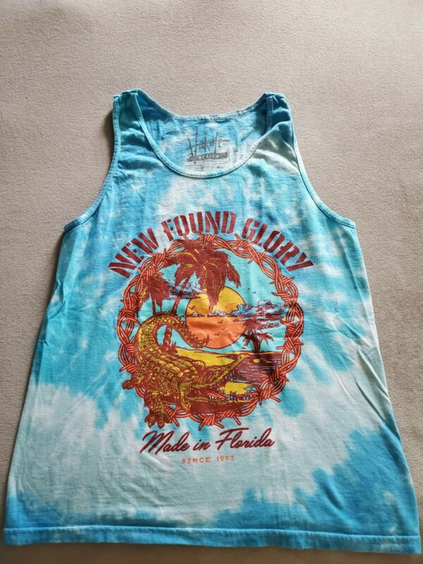 *NEW FOUND GLORY TIE DYE TANK TOP SIZE MEDIUM- NEW!*