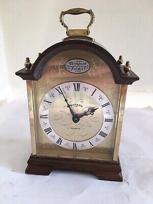 Vintage Tempus Fugit Rotary Quartz Mantel Clock