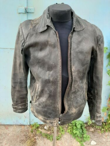 Soviet russian anturage pilot leather jacket