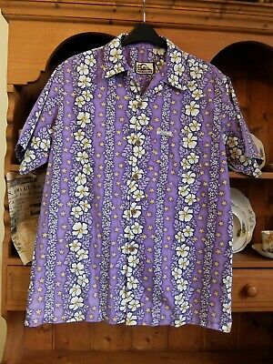 """LOVELY HAWAIIAN STYLE VINTAGE QUIKSILVER SHIRT STAG RETRO L/XL - 48"""" CHEST"""