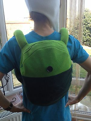 Adventure Time Backpack Finn or Fionna fully lined and custom-made in fleece ()