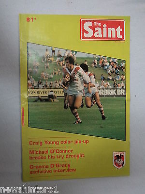 #T112. THE SAINTS  RUGBY  LEAGUE  MAGAZINE, MARCH 23rd 1983 - CRAIG YOUNG PINUP
