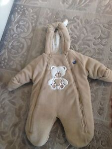 One size (likely up to 12 months) snowsuit