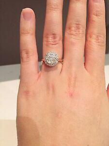 1 carat diamond 14K gold engagement ring Darch Wanneroo Area Preview