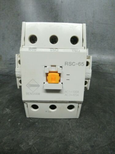 80 AMP BENSHAW CONTACTOR RSC-65 600 VAC 3 PHASE 40 HP COIL: 120 *WARRANTY*