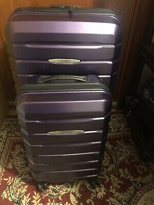 Samsonite Tech 2.0 2-piece Hardside Spinner Set in Purple Pre-owned