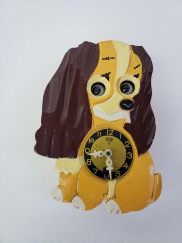 Walt Disney Productions Lady & the Tramp Dog Mi-Ken Clock Vtg Parts Repair Japan