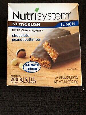 NutriSystem NurtriCruch Lunch Chocolate Peanut Butter Bar 1.8 Oz Bars 5 Ct Low Sodium Peanut Butter