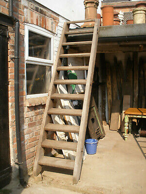 Reclaimed heavy pine staircase / access steps