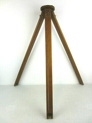 "Vintage Antique Wood Camera WOODEN TRIPOD Steampunk Industrial Decor 32""-58"""