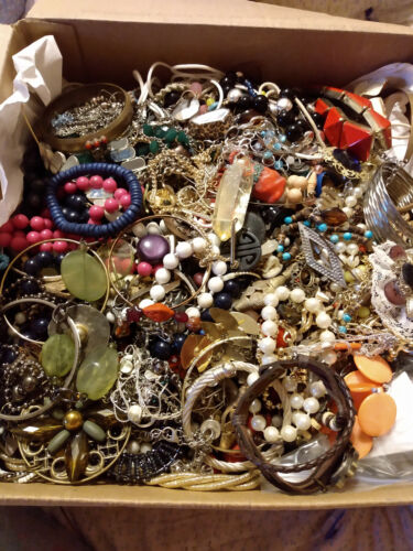 Vintage to Modern Jewelry Craft/Tangled Estate Find LFR box 17 lbs