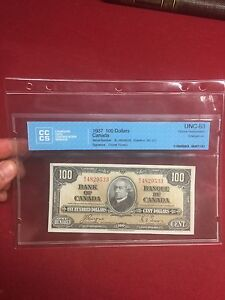 HIGH GRADE CANADIAN BANKNOTE COLLECTION 1937 1954 Devil Face