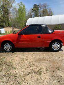 1990 Pontiac Firefly Convertible.