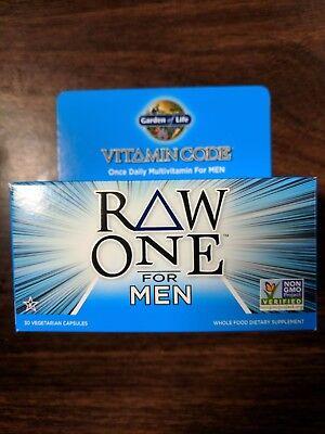 Garden of Life  Vitamin Code -RAW ONE for MEN 30 Veg Capsules