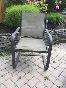 4 Patio Chairs, good condition $125