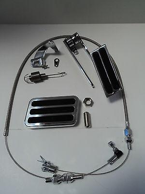 Billet Aluminum Gas Pedal / Brake Pad / Stainless Throttle Cable / Bracket (Brake Gas Pedal)