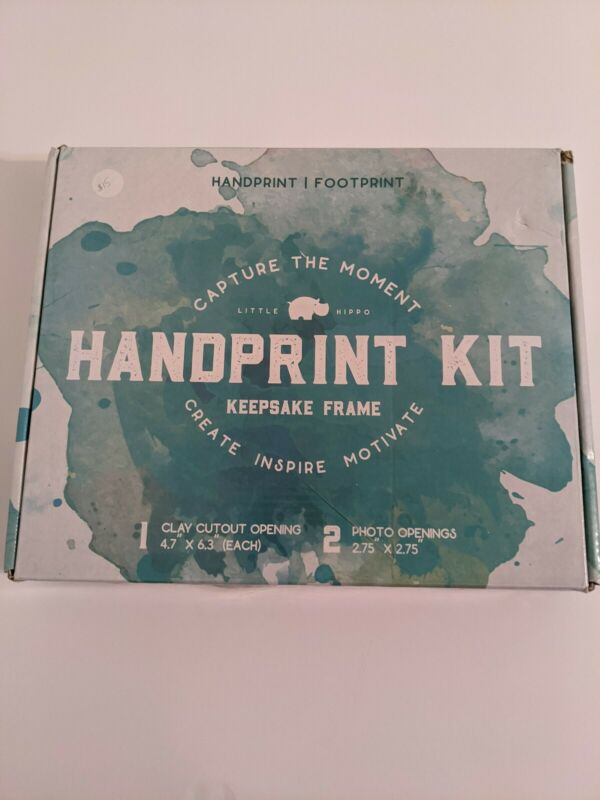 Baby Handprint Kit by Little Hippo Clay Picture Frame Baby Shower Keepsake