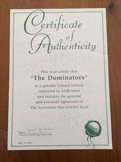 The Dominators cricket memorabilia