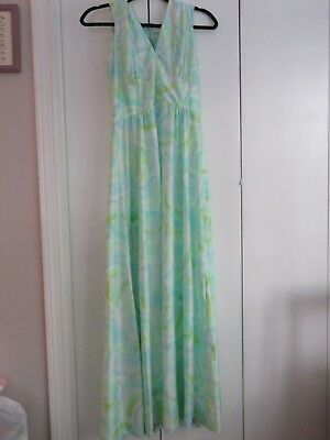 Discounted Pretty Vintage Green and Blue Pattern - Discount Nightgowns