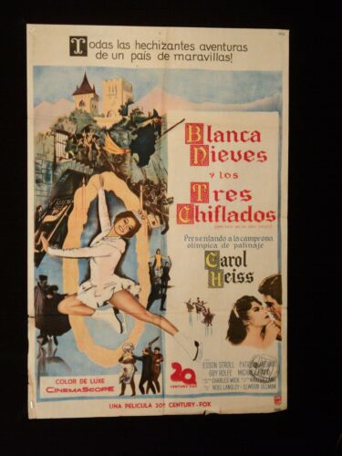 SNOW WHITE AND THE THREE STOOGES (1961) * MOE LARRY JOE * ARGENTINE 1sh POSTER