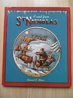 VISIT FROM ST. NICHOLAS~Clement Moore~FACSIMILE HUNTINGTON LIBRARY RARE BOOK~HCJ