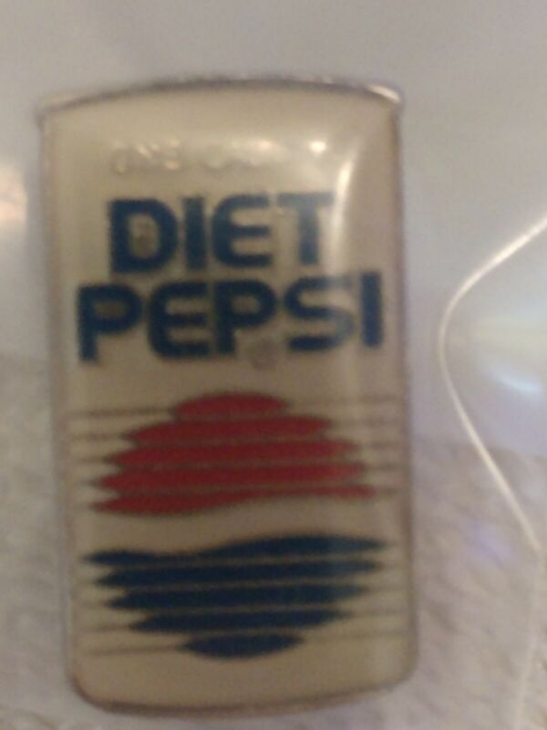 Vintage Diet Pepsi Can Lapel Pin Pushback