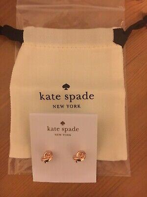 KATE SPADE 'Sailors Knot' Rose Gold Tone Earrings. NEW