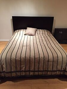 Queen size bed (frame and mattress)