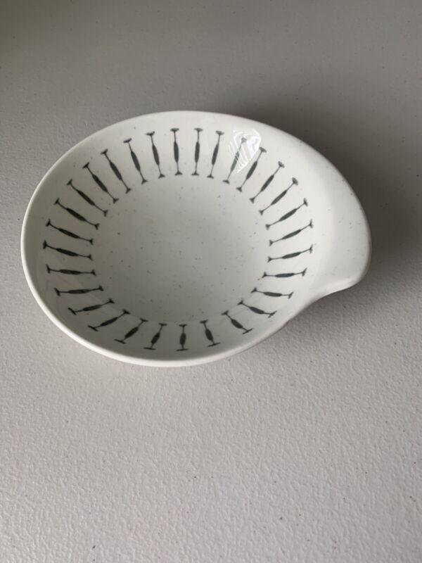 "Royal China Navajo Mid Century Modern 7"" Cereal Soup Bowl Gray White Farmhouse"