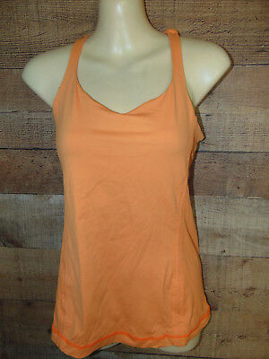 Lululemon Free To Be Tank Top, Orange Pizzaz,  Strappy Back, Size 6