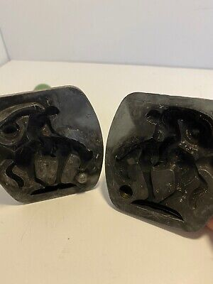 Vintage Lead Toy Mold Of Bucking Bronco By Ace Vintage Lead Toys