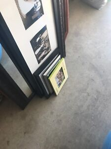Assorted picture frames, mirror