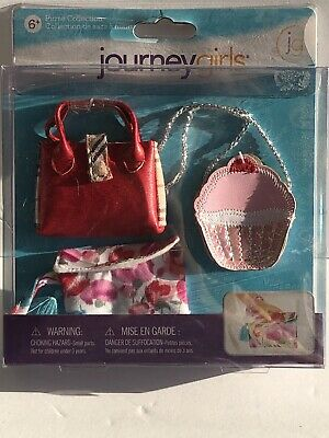 """Journey Girls Cupcake Purse Collection Toys R Us Exclusive Set for 18"""" Dolls NEW"""