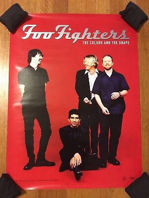 """Foo Fighters """"The Colour and the Shape"""" 1997 Promotional Store Poster 18x24 Red"""