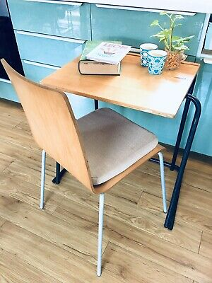 Vintage Retro Wooden School Desk - Writing Drawing Stackable Table - 5 Available