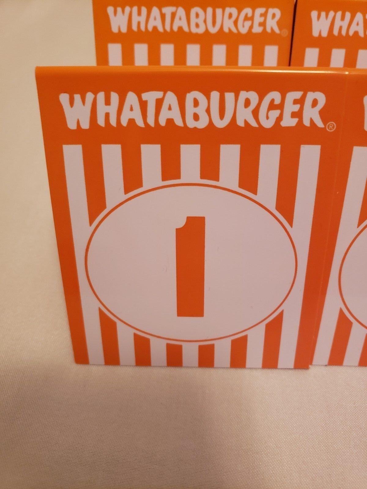 1  Sheet NEW Whataburger Vinyl Decals Promotional Item