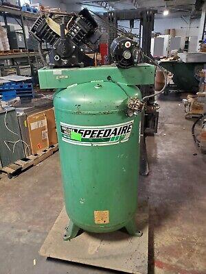 Speedaire 80 Gallon Vertical Air Compressor 5 Hp 460 Vac 3 Phase 3jr77