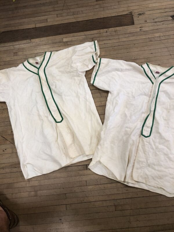 Vintage Mason Athletic THICK FLANNEL BASEBALL JERSEY SIZE XL LOT OF 2 Cotton