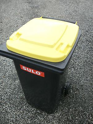 SULO 120 oder 240L Mülltonne NEU in anthrazit+Deckel gelb -ORIGINAL Abfalltonne