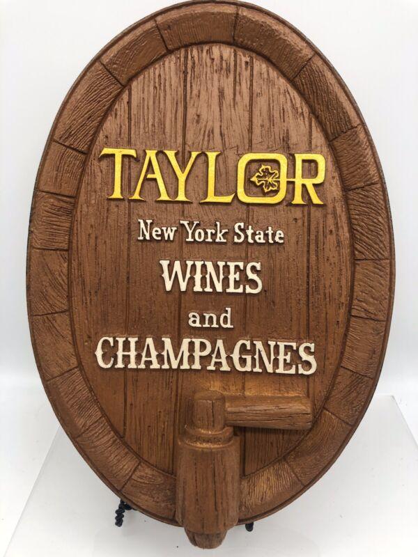 Vtg Taylor Wines Champagne Bar Ware Sign