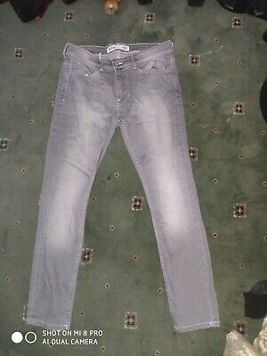 Burtons Mens Grey Stretch Skinny Jeans- 34s W34 L30- New without tags