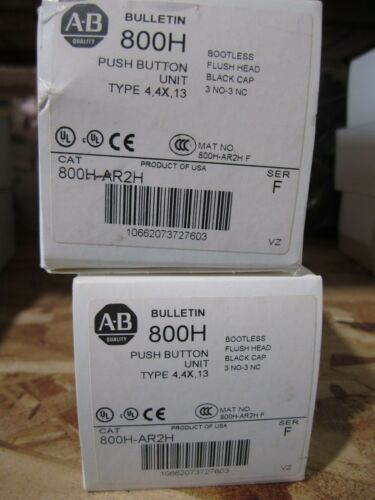 NEW ALLEN BRADLEY PUSH BUTTON 800H-AR2H