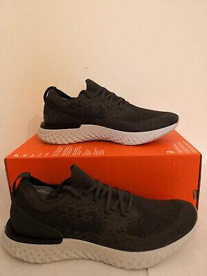Nike Epic React Flyknit Men's Running Shoe UK 10.5 Olive/Khaki Green