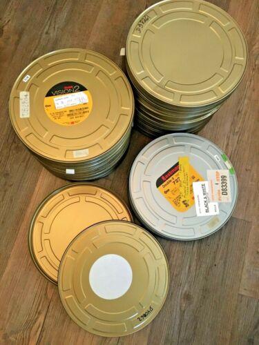 "Lot of 5 Kodak 9.8 "" X 1.1"" Metal 16MM Silver Film 800ft Original Cans Move Tins"