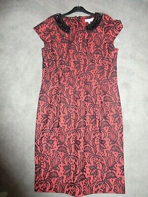 6584612031ec LADIES RED AND BLACK DRESS BUTTERFLY BY MATHEW WILLIAMSON DEBENHAMS SIZE 14