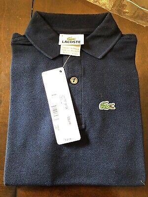Lacoste Kids Boy's GRAPHITE Classic Croc Logo Short Sleeve Polo Shirt Size 4 New