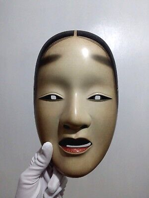 Japanese Theater Noh Mask Exceptional Beauty Museum Quality