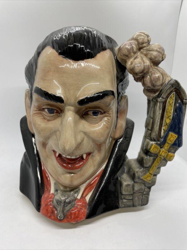 """Vintage Royal Doulton David Biggs Count Dracula Character Toby Jug D7053, 7"""""""